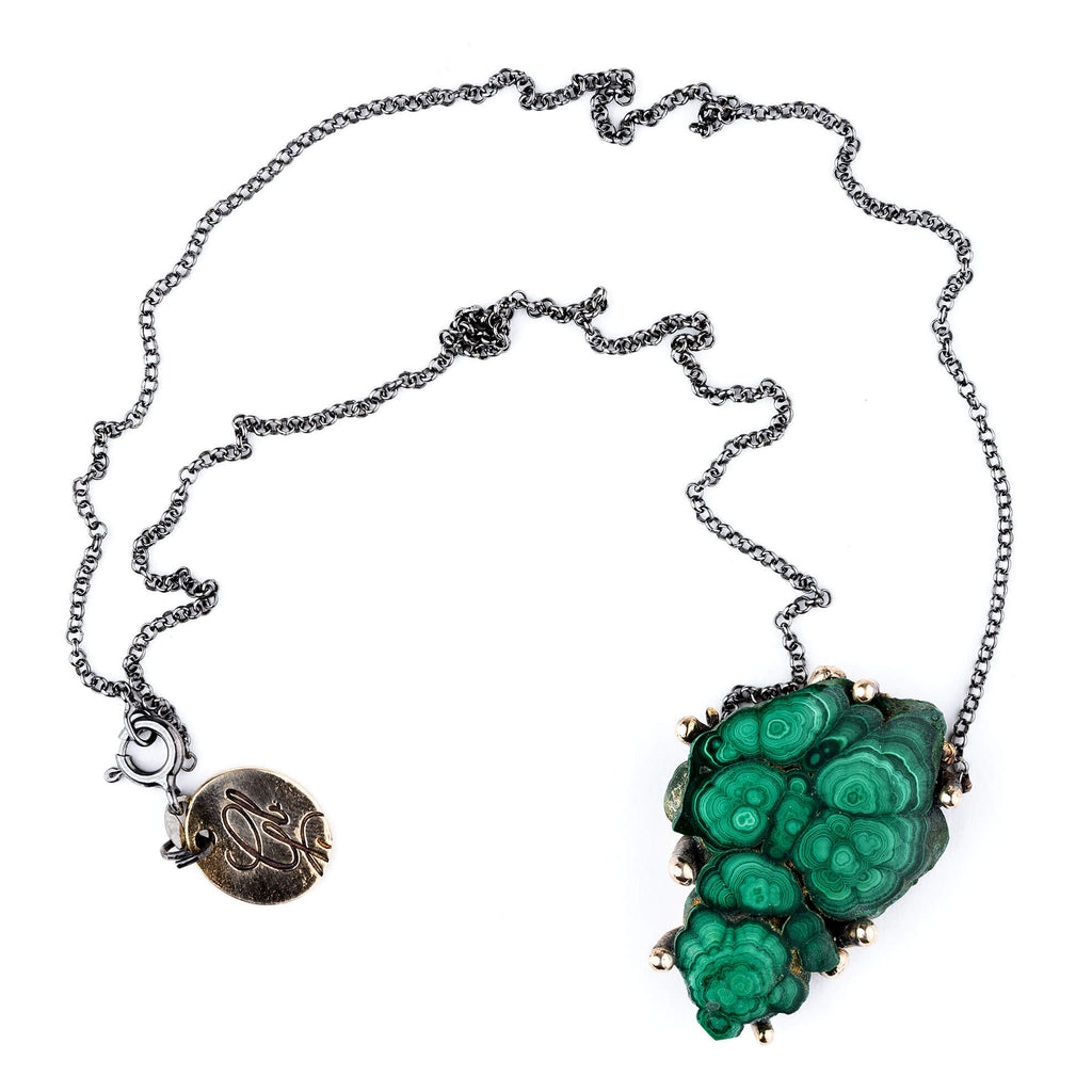 Malachite Necklace - Unique Piece