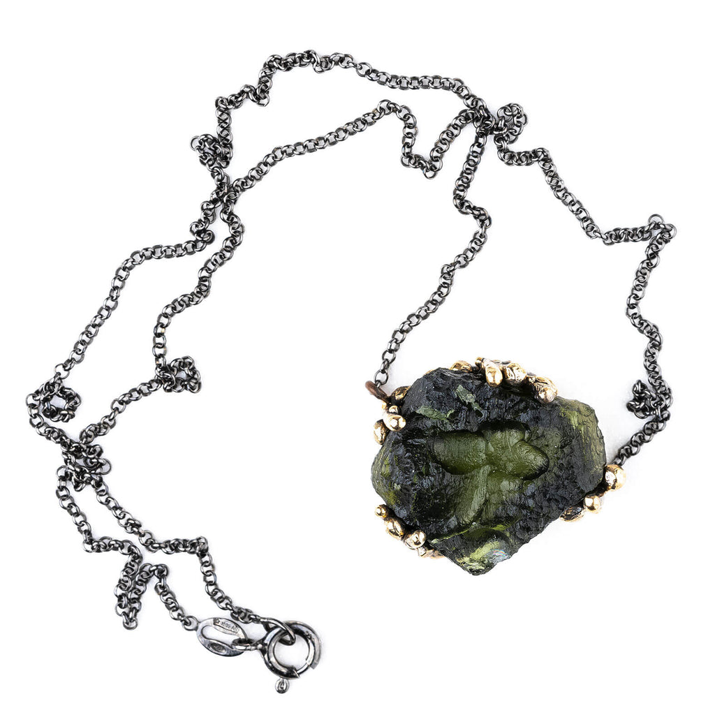 Moldavite Necklace - Unique Piece