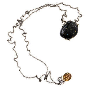 Nuummite (from Greenland) Necklace - Unique Piece