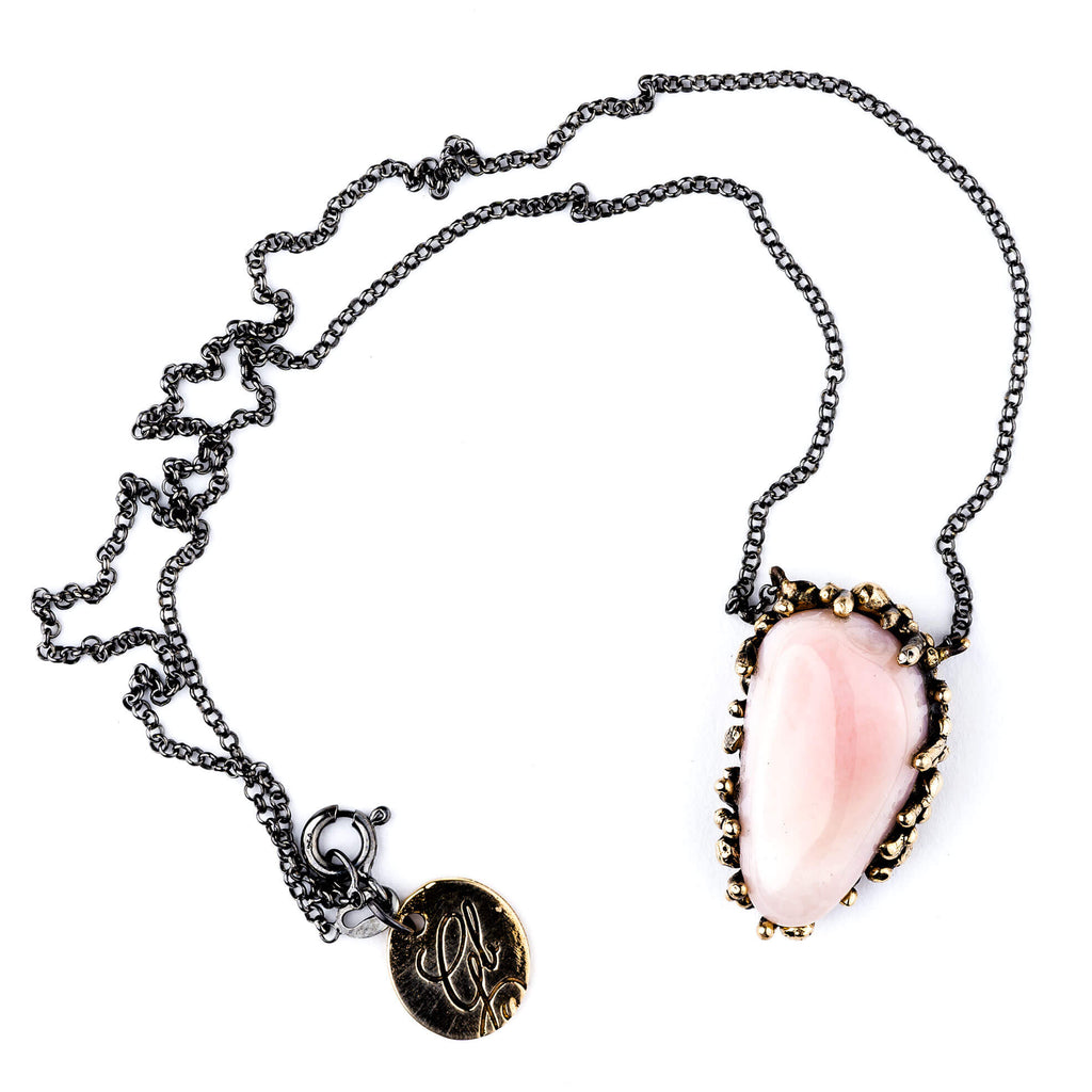Pink Opal necklace - One of a Kind