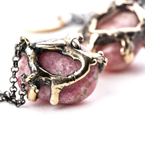 Rhodochrosite Necklace - One Of a Kind