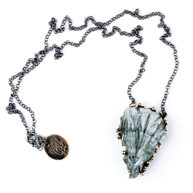 Seraphinite Necklace - Unique Piece - Giardinoblu healing jewels