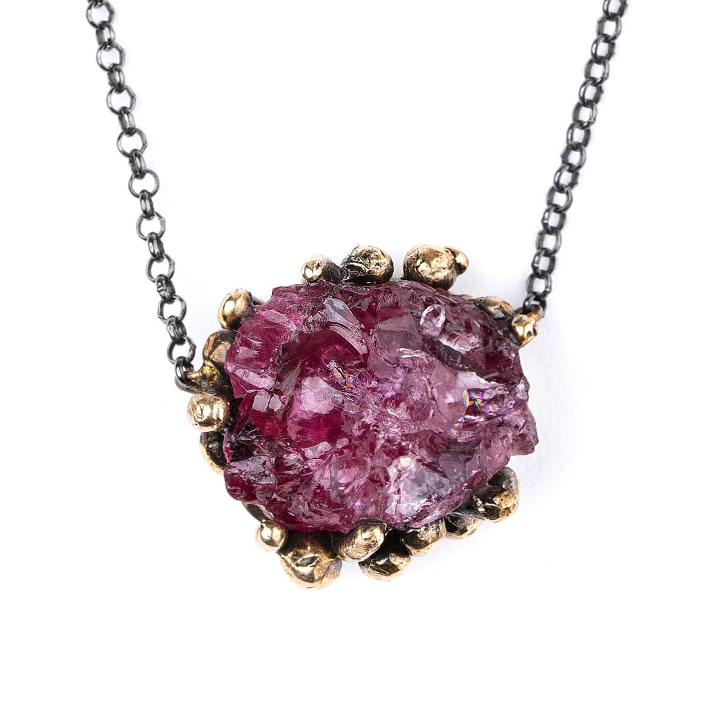 Cherry Tourmaline necklace