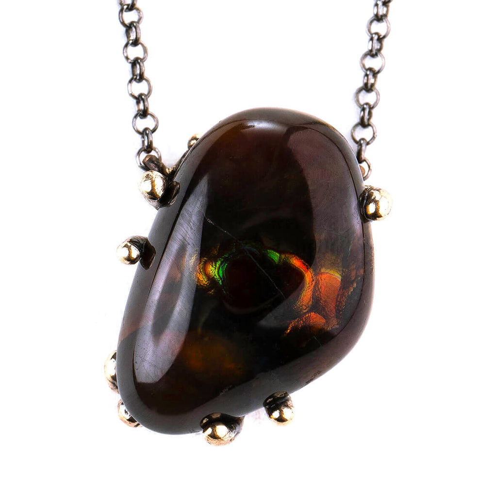 Fire Agate Necklace - Unique piece