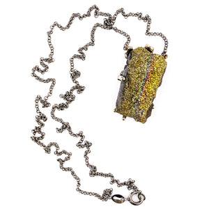 Rainbow Pyrite Necklace - Unique Piece