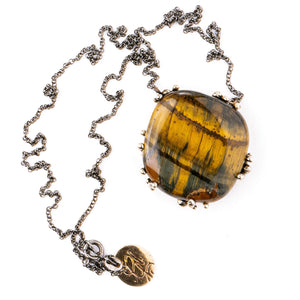 Tiger Eye Necklace - Healing Jewel by Giardinoblu