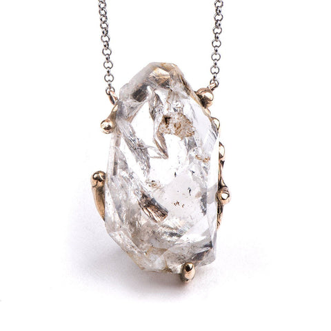 Necklace - Herkimer Diamond Necklace - One Of A Kind For Men And Women