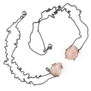Peach Morganite Necklace - One of a Kind