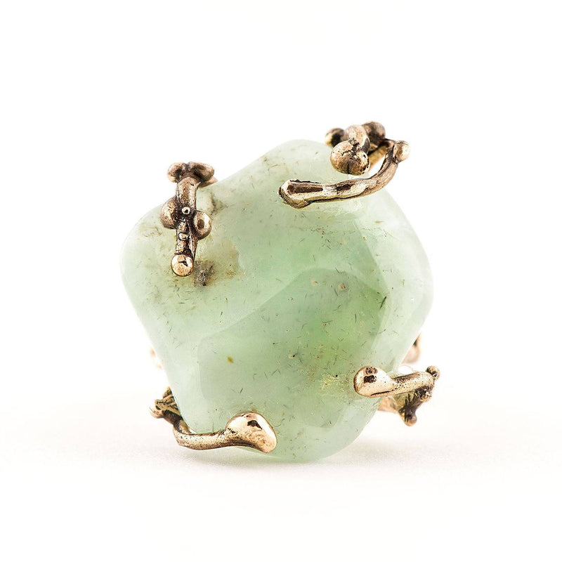 Prehnite Ring - One of a kind - Giardinoblu Jewellery Milan