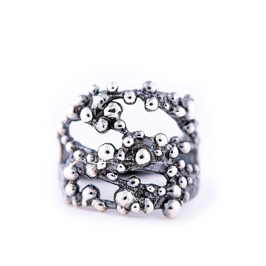 Antique Silver Ring - Giardinoblu Jewellery Milan