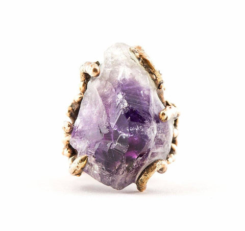 Unique Jewelry for healing Amethyst Ring - Giardinoblu Jewellery Milan