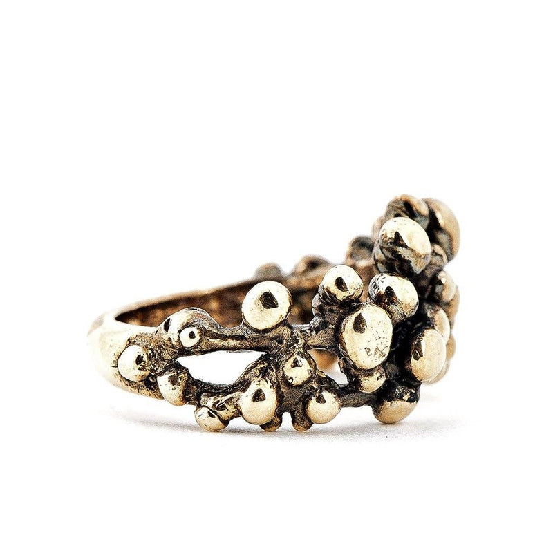 Antique Bronze Frizzy Bubbles Ring - Giardinoblu Jewellery Milan
