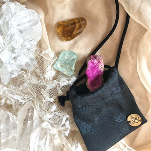 Custom Crystal Medicine Pouch limited edition by Giardinoblu