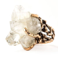 Apophyllite Quartz Ring - Crystal Jewelry for healing