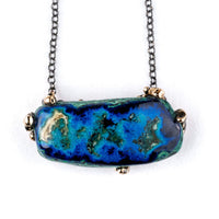 Azurite Malachite Chrysocolla Necklace _ Gemstone Healing jewel