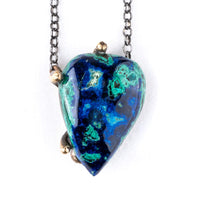 Azurite Malachite Chrysocolla Necklace - Unique Piece