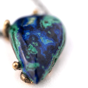Azurite Malachite Chrysocolla Necklace - Unique Piece of healing jewelry by Giardinoblu