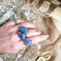 Blue Quartz (aka Dumortierite) Ring - healing jewelry