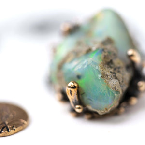 Ethiopian Opal Necklace - Unique Piece