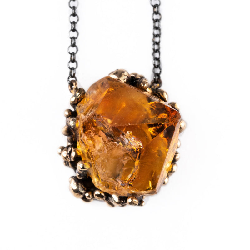 Top Quality Citrine Necklace | Giardinoblu healing jewelry
