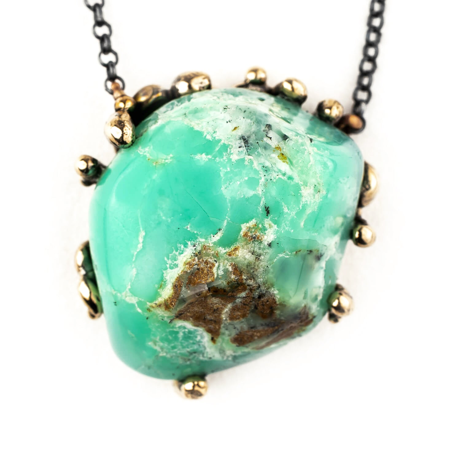 Crystals for new moms - Chrysopal necklace