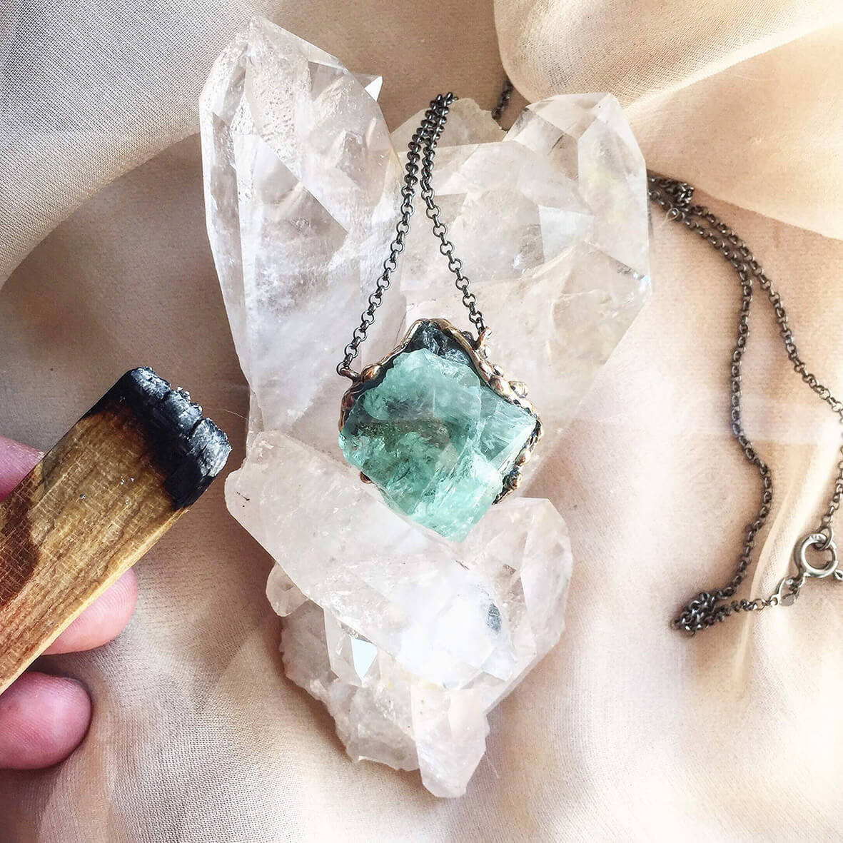 smudge is one of the most powerful ways to cleanse crystals