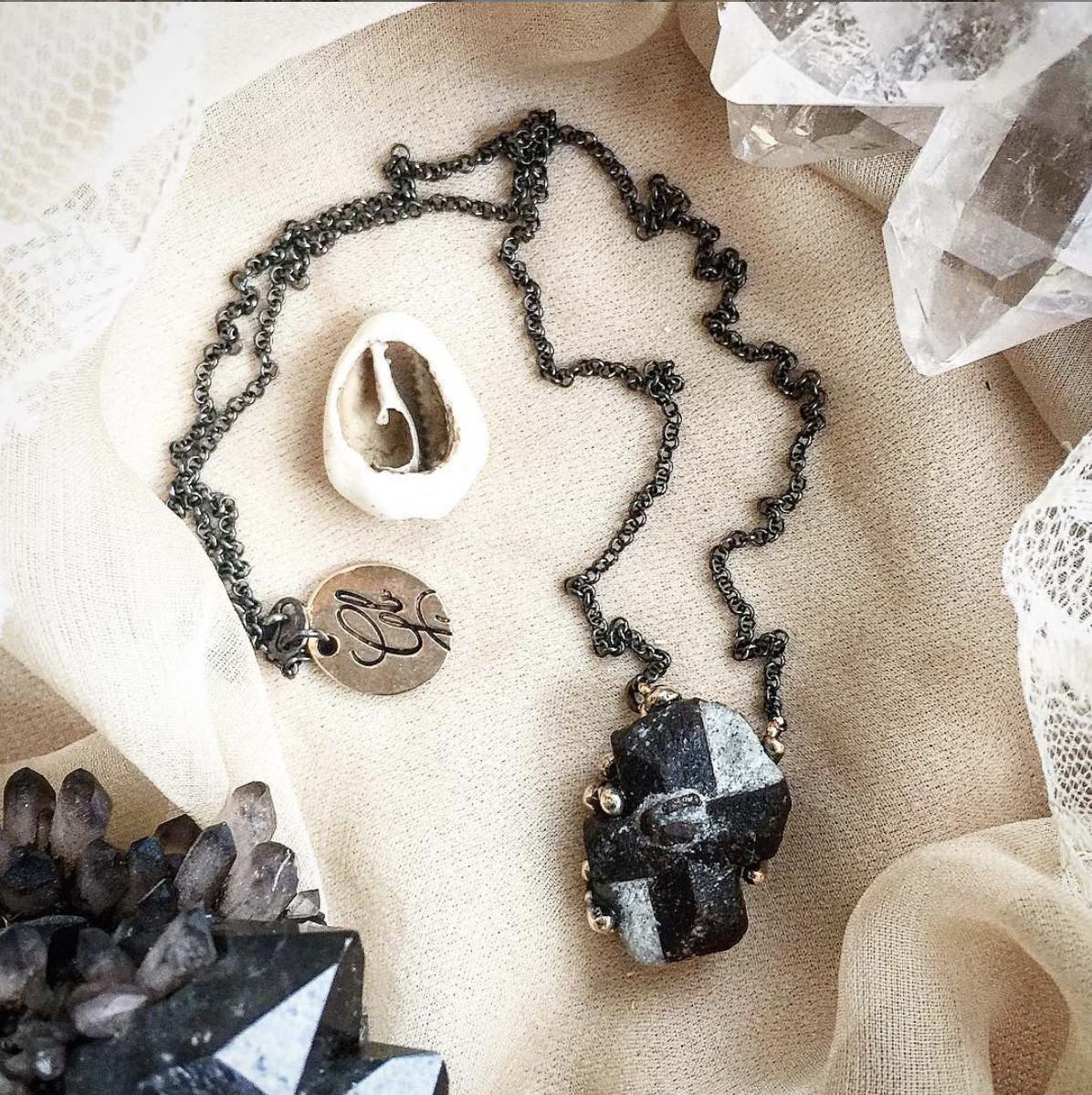 Crystals for new moms - Staurolite necklace