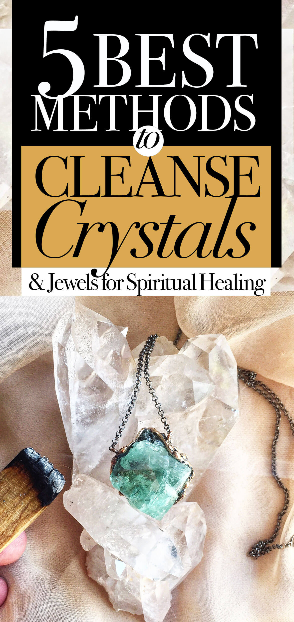 5 Most Effective Methods to Cleanse Crystals & Healing Jewels