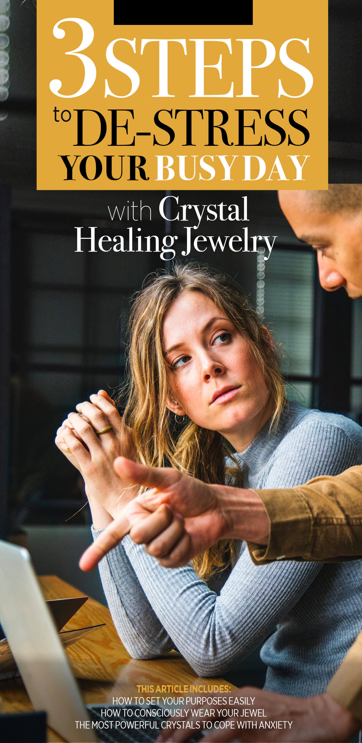 De-Stress Your Busy Day instantly With Crystal Healing Jewelry