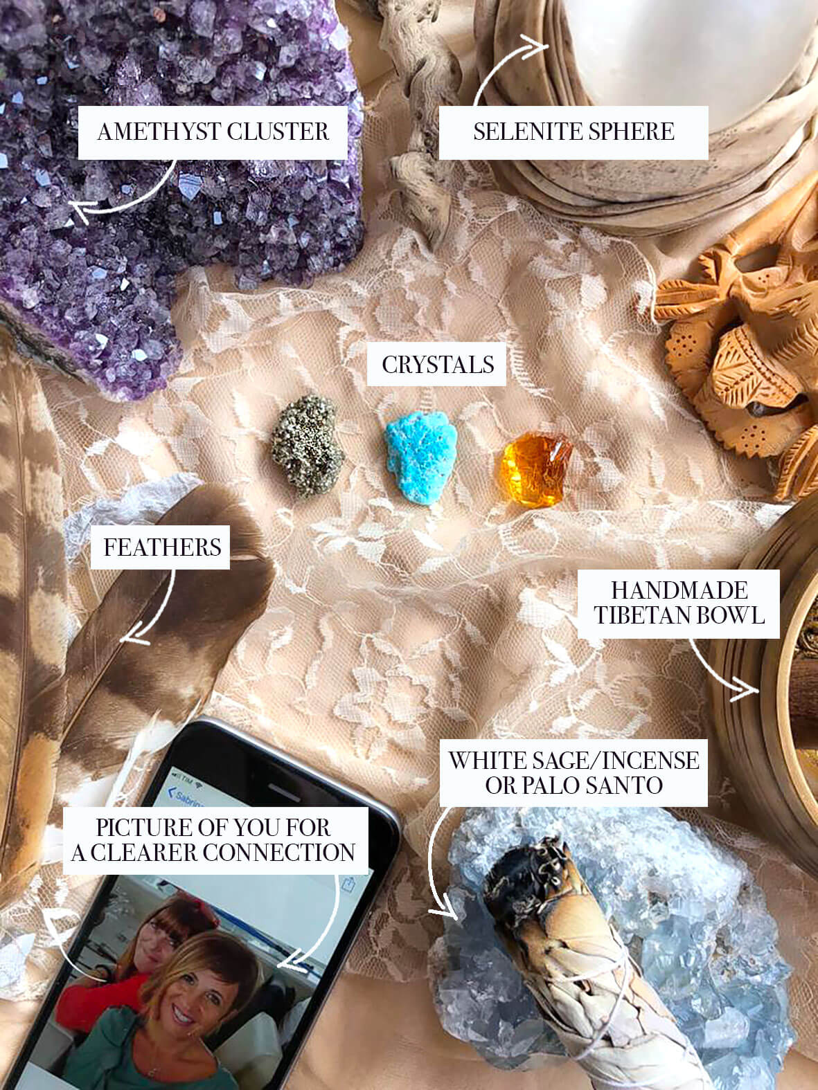 divination tools for crystal consultation