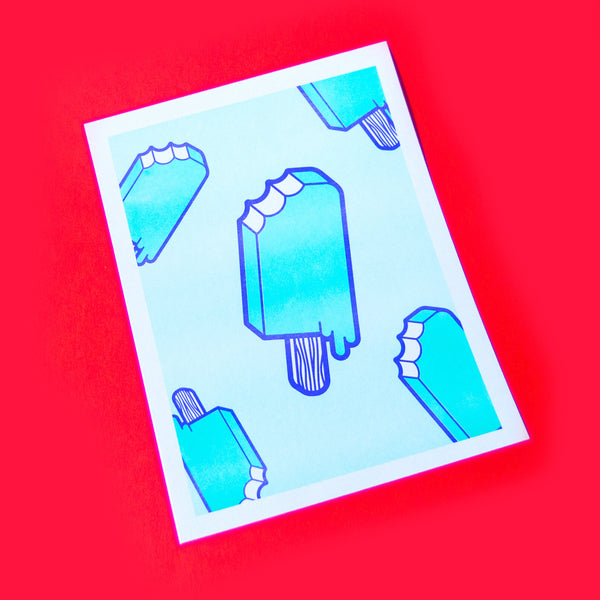 Melty Popsicle Riso Print