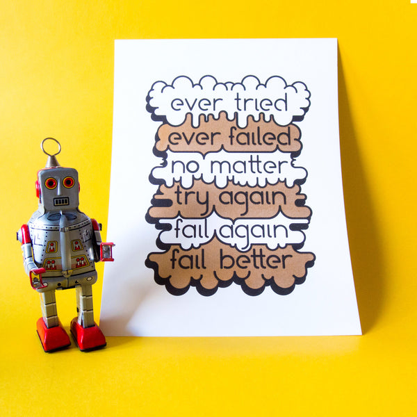 Ever Tried, Ever Failed Risograph Print