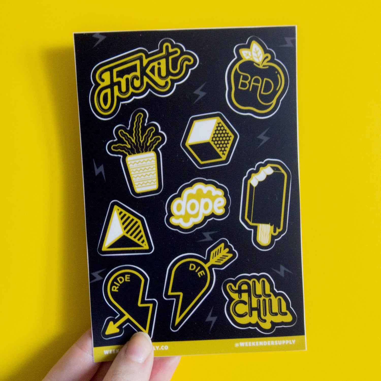 Weekender Supply Vinyl Sticker Sheet