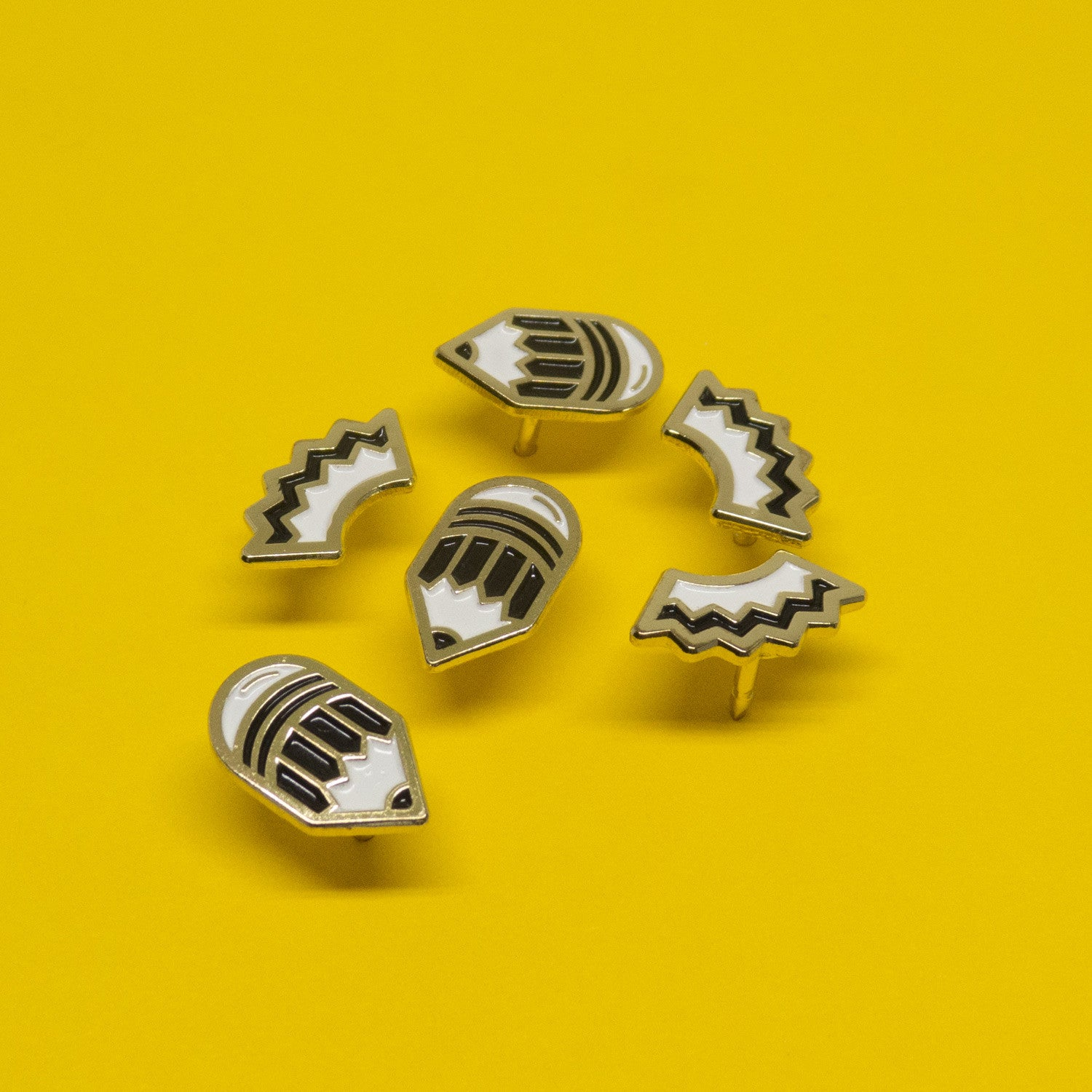 Mini Pencil Enamel Pin Set