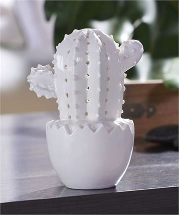 Ceramic Cactus with LED light