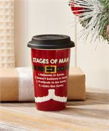 Santa Suit Travel Mug Stages of Man