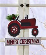 Tractor Sign with Merry Christmas