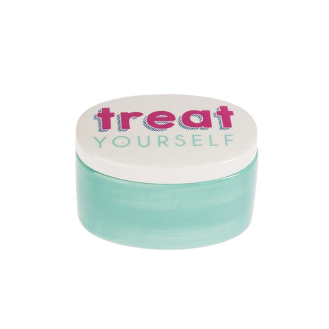 """Treat Yourself"" Oval Treasure Box"