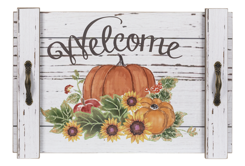 Fall Welcome wall plaque