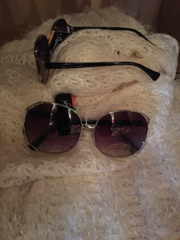 Charlie Paige Sunglasses Silver Frame