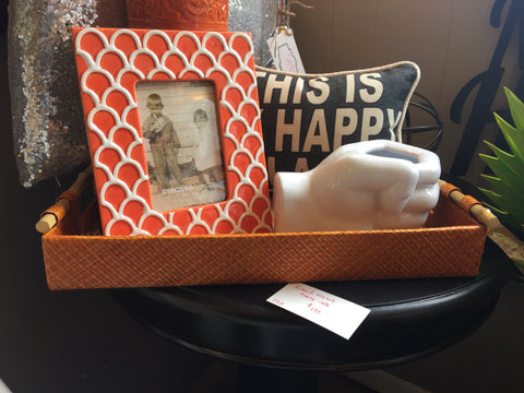 Orange Weaved Tray