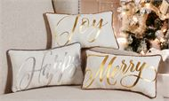 Silver and Gold Christmas Pillows