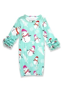 Snowman Baby Gown