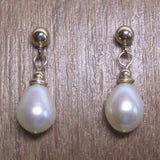 Vintage Pearl Dangle Earrings 14K Gold Filled - Bejeweled Emporium - 1
