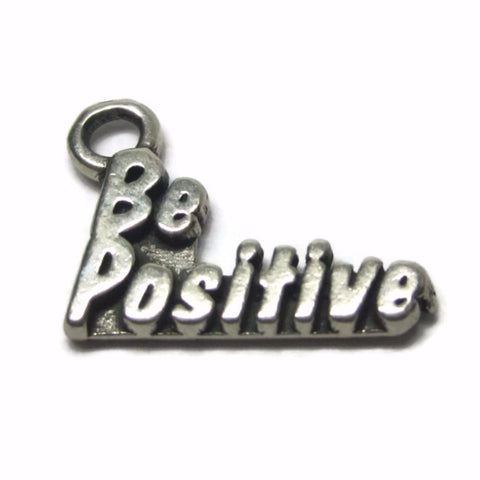 Vintage Sterling Be Positive Charm - Bejeweled Emporium - 1