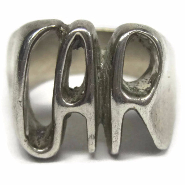 Vintage Handmade Car Ring Sterling Size 6 - Bejeweled Emporium - 1