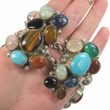 Massive Custom Multi Gemstone Statement Bracelet 7.5 Inches - Bejeweled Emporium - 1