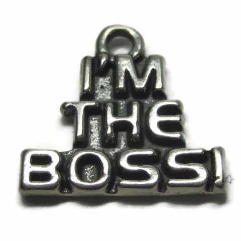 Vintage Im The Boss Charm Sterling - Bejeweled Emporium - 1