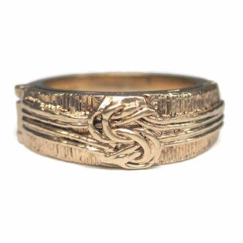 Antique 14K Love Knot Hidden Message Wedding Ring Size 7