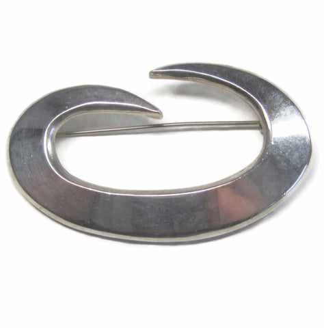 Vintage Mexican Sterling Swirl Brooch